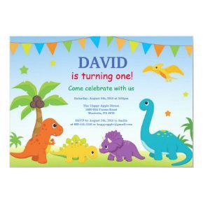 Dinosaur Birthday Invitation Dino Party