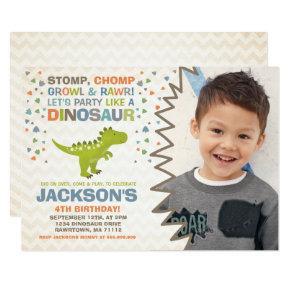 Dinosaur Birthday Invitation Dinosaur Dig Party