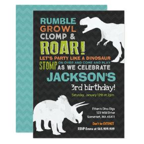 Dinosaur Birthday Invitations Dinosaur Fossil Party