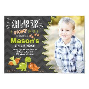 Dinosaur birthday Invitations Dinosaur Party Invite