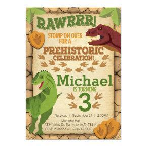 Dinosaur Birthday Invitations T Rex