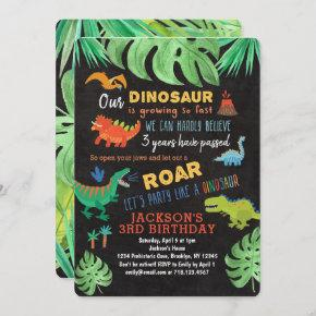 Dinosaur Birthday  Roar Dinosaur Party