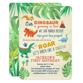 Dinosaur First Birthday  Dinosaur Party