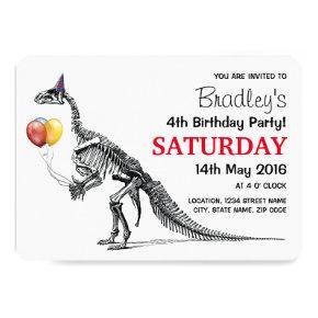 Dinosaur themed Birthday Party Card