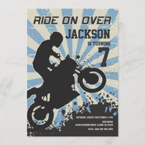 Dirt Bike Birthday Invitation / Motocross / Sport