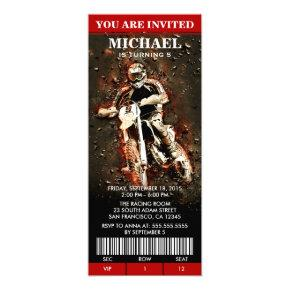 Dirt Bike Birthday Party Ticket