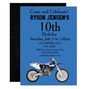 Dirt Bike Themed Sports Kids Birthday Invitations