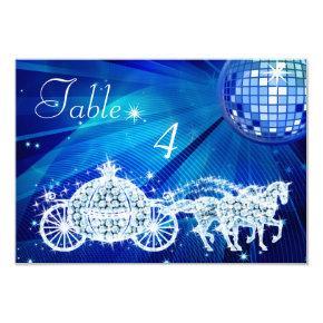 Disco Ball, Princess Coach & Horses Double Sided Invitation