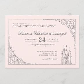 Disney Princess Castle | Fairy Tale Birthday Invitation