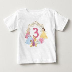 Disney Princess | Floral Gold Birthday Baby T-Shirt