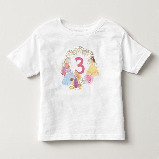 Disney Princess | Floral Gold Birthday Toddler T-shirt