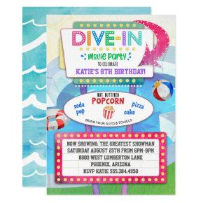 Dive In Movie Birthday Party Invitation