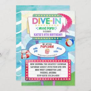 Dive In Movie Birthday Party Invitation