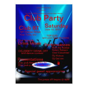 87th Party Birthday Invitations Candied Clouds