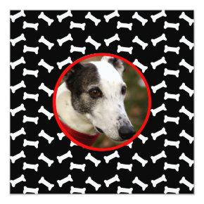 Dog Birthday Party Custom Photo Invitations