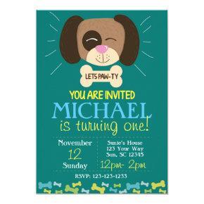 Doggy Birthday Invite (boys)