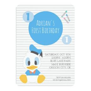 Donald Duck | First Birthday Invitation