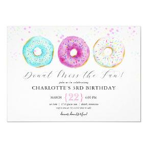 Donut Birthday Party Photo Invitation