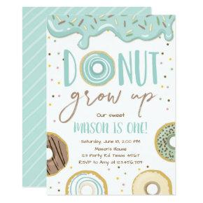 Boy Donut Party Birthday Invitations Candied Clouds