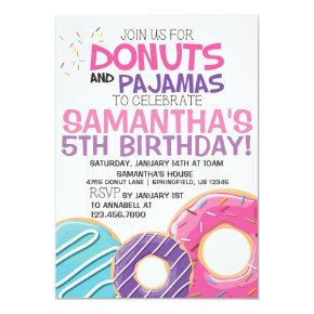 Donuts & Pajamas Birthday Invitation