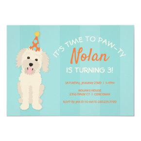 Doodle Puppy Birthday Party Invitation