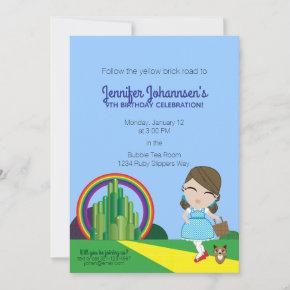 Dorothy of Oz BIRTHDAY PARTY invitation