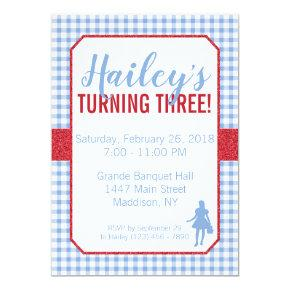 Dorothy Wizard of Oz Birthday Invitation