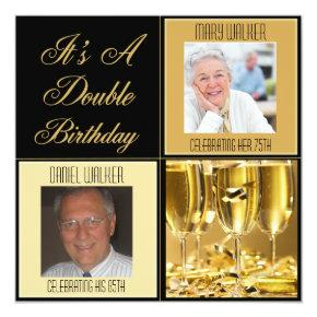 Double Birthday Party Invitations for Any Age