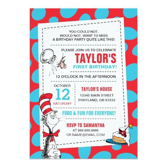 Dr Seuss The Cat In The Hat Birthday Card Candied Clouds