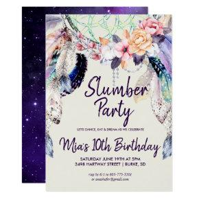 Dream-catcher Slumber Party Invitations
