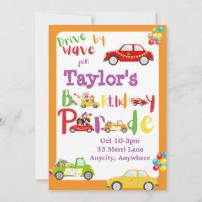 Drive by Birthday 2 Invitation