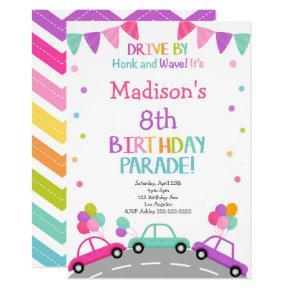 Drive by Invitation, Birthday Parade Invitation