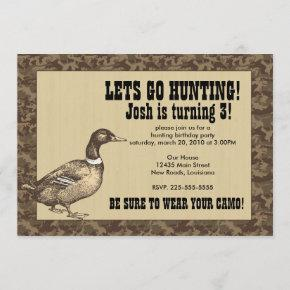 Duck Hunting Birthday Invitation