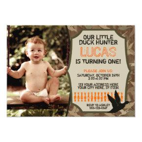 Duck Hunting Birthday Invitations with Photo - Camo