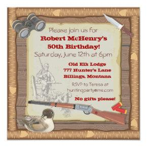 Duck Hunting Invitation with wood frame
