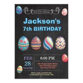 Easter birthday Boy Easter Egg Birthday Invitation