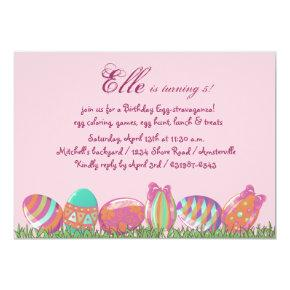 Easter Egg March, Holiday Birthday  Party Invitati Invitation