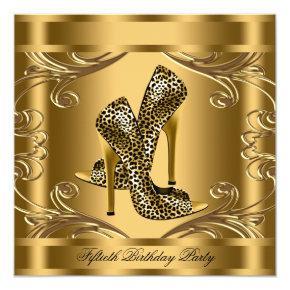 Elegant Black and Gold Birthday Party Invitation