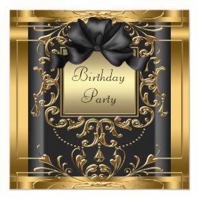 Elegant Black and Gold Birthday Party