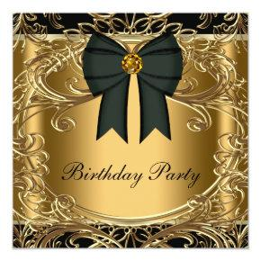 Elegant Black and Gold Birthday Party