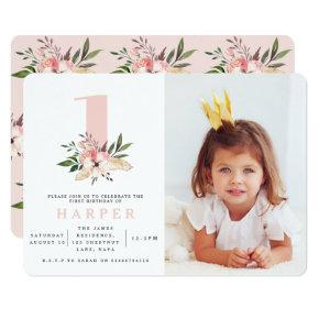 Elegant floral pink birthday party Invitations