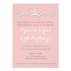 Elegant Magical Princess Pink Tiara Invite