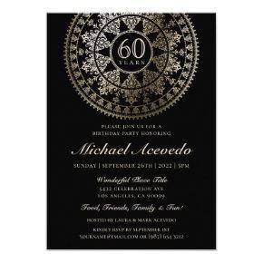 Elegant Milestone Birthday Invitations Gold Foil