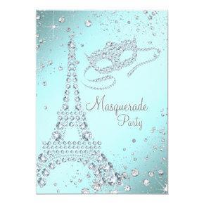 Elegant Paris Masquerade Party Invitation