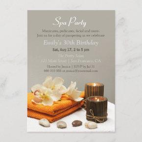 Elegant Relaxing Spa Birthday Party