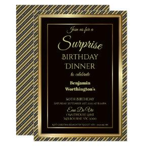 Elegant Surprise 60th Birthday Dinner Invitation