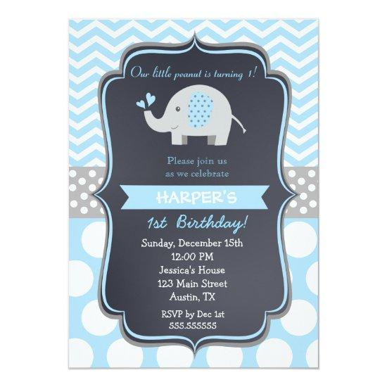 Elephant Birthday Party Boy Candied Clouds