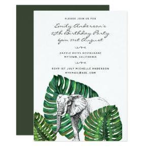 Elephant Safari Birthday Invitations ANY AGE