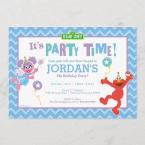 Elmo and Abby Birthday Invitation