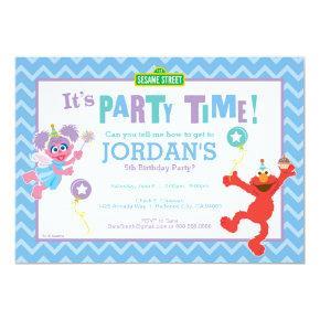 Elmo and Abby Birthday Invitation
